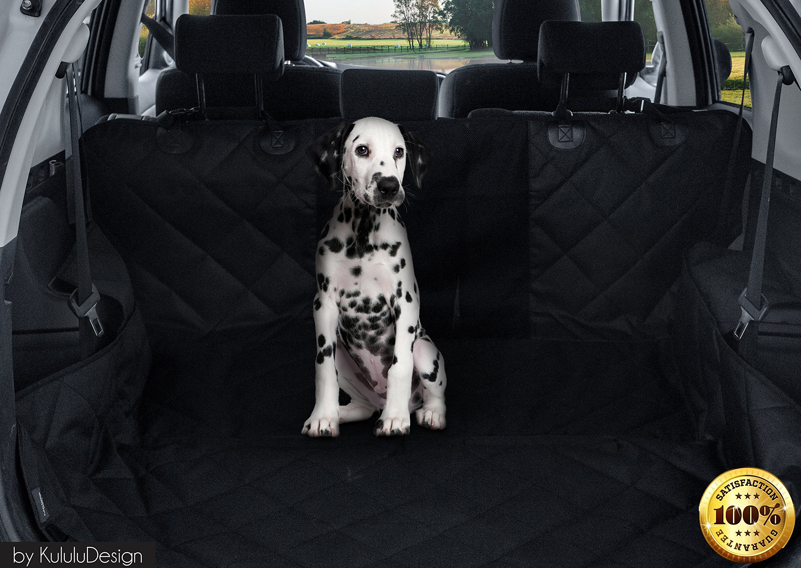 PREMIUM XL Dog Car Seat Cover Hammock Style And Cargo Liner For Cars, Trucks And Suv's. The Original Design You Can See Your Pet & Your Pet Sees You with the ClearView Window- Keeps Your Pet Calm. by Kululu (Image #8)
