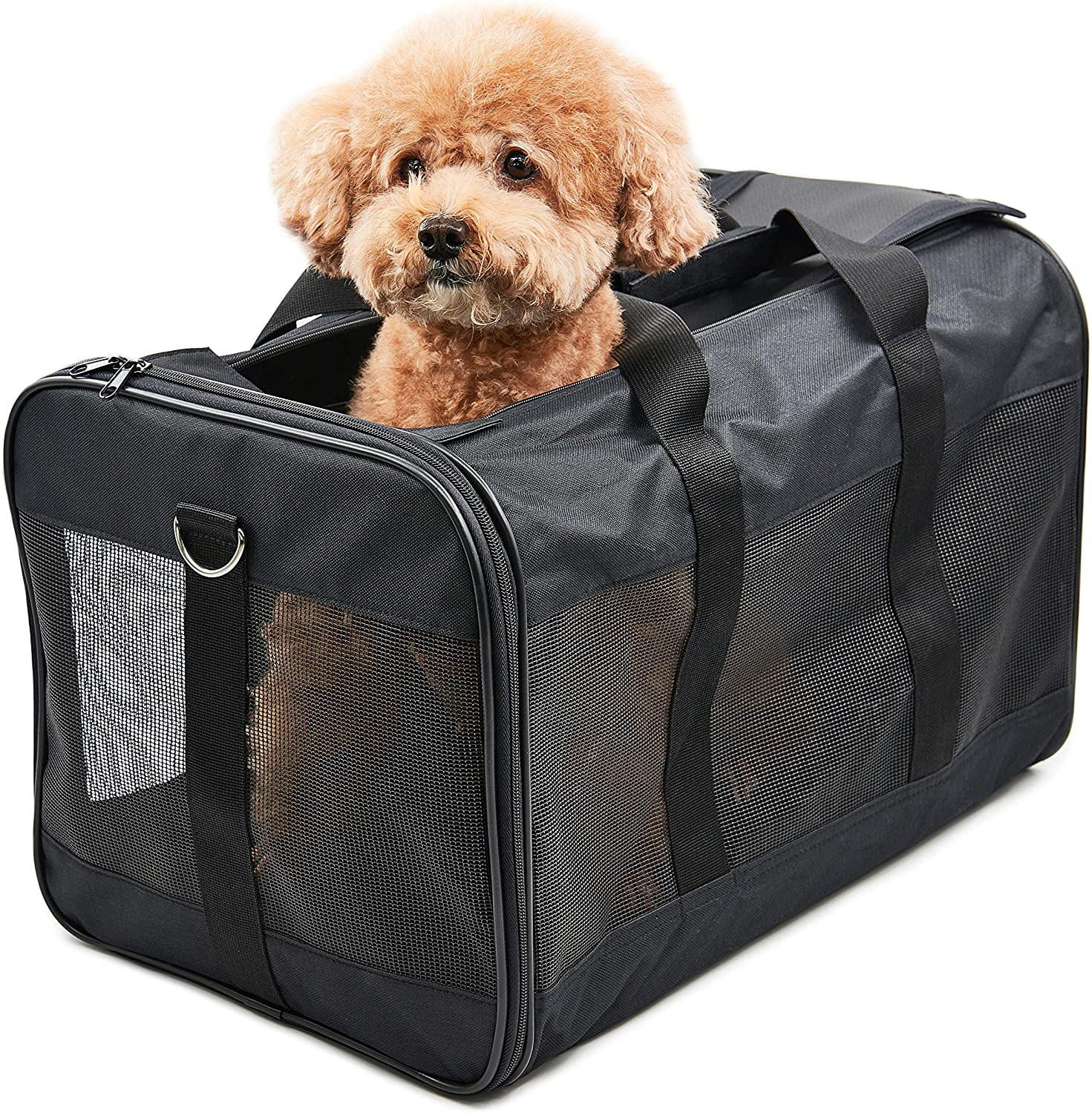 Amazon Com Scratchme Pet Travel Carrier Soft Sided Portable Bag For Cats And Small Dogs Collapsible Durable Airline Approved Travel Friendly Carry Your Pet With Safely And Comfortably Black Pet Supplies