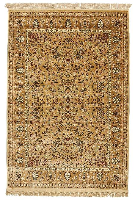 FeelGoodRugs 140 x 200 cm-Tapis Oriental 271054 Diba Tapis Marron  Clair/Beige