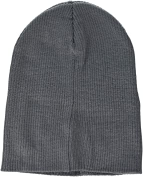 69126b8c9fcd4a Image Unavailable. Image not available for. Colour: Beechfield Unisex  B461.Sgr Slouch Beanie, Smoke Grey, One Size