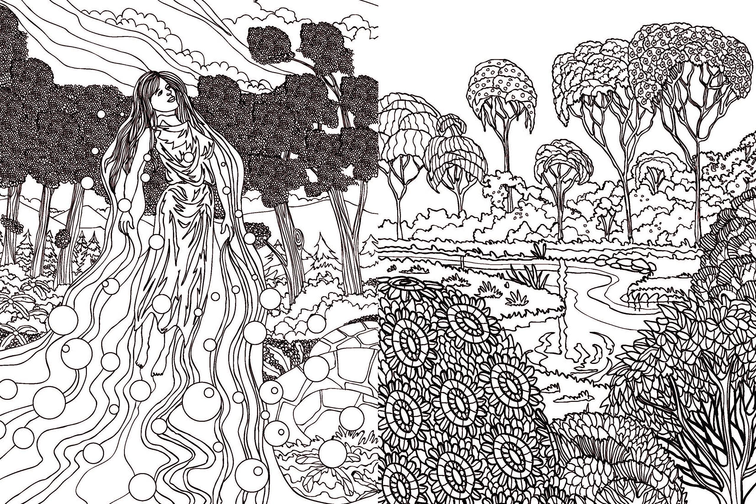 Relax Art: Zauberwald & Fabelwesen: Ausmalen & entspannen: Amazon