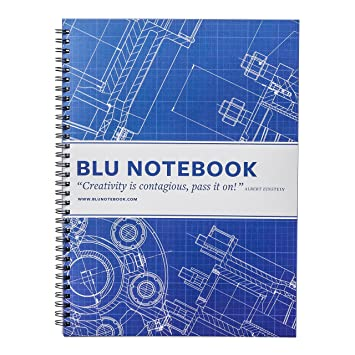 Amazon blueprint paper journal by blu notebooks 85 x 11 w blueprint paper journal by blu notebooks 85quot x 11quot w a 1 malvernweather Gallery