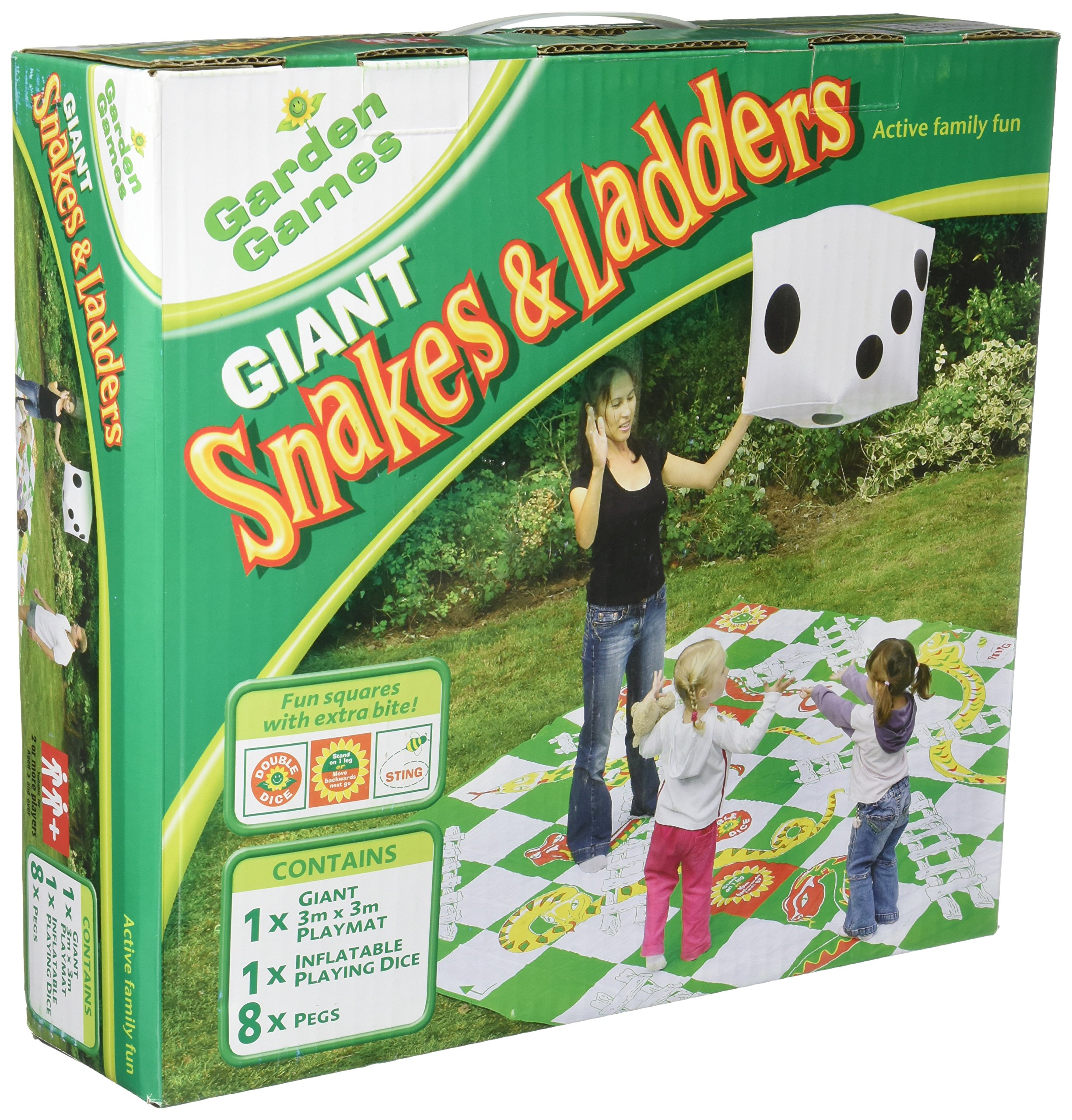 Chess, Snakes /& Ladders, and Ludo THE UM24 Set of 3 Jumbo Floor Board Games