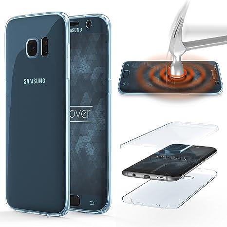 Urcover® Funda Compatible con Samsung Galaxy S6 Edge Plus Carcasa Protectora 360 Grados Silicona Gel en Transparente Full Body Protección Completa ...