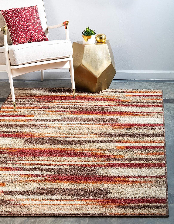Unique Loom Autumn Collection Casual Gradient Warm Toned Multi Area Rug (9' 0 x 12' 0)