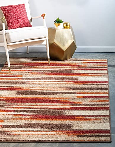 Unique Loom Autumn Collection Casual Gradient Warm Toned Multi Area Rug 9 0 x 12 0