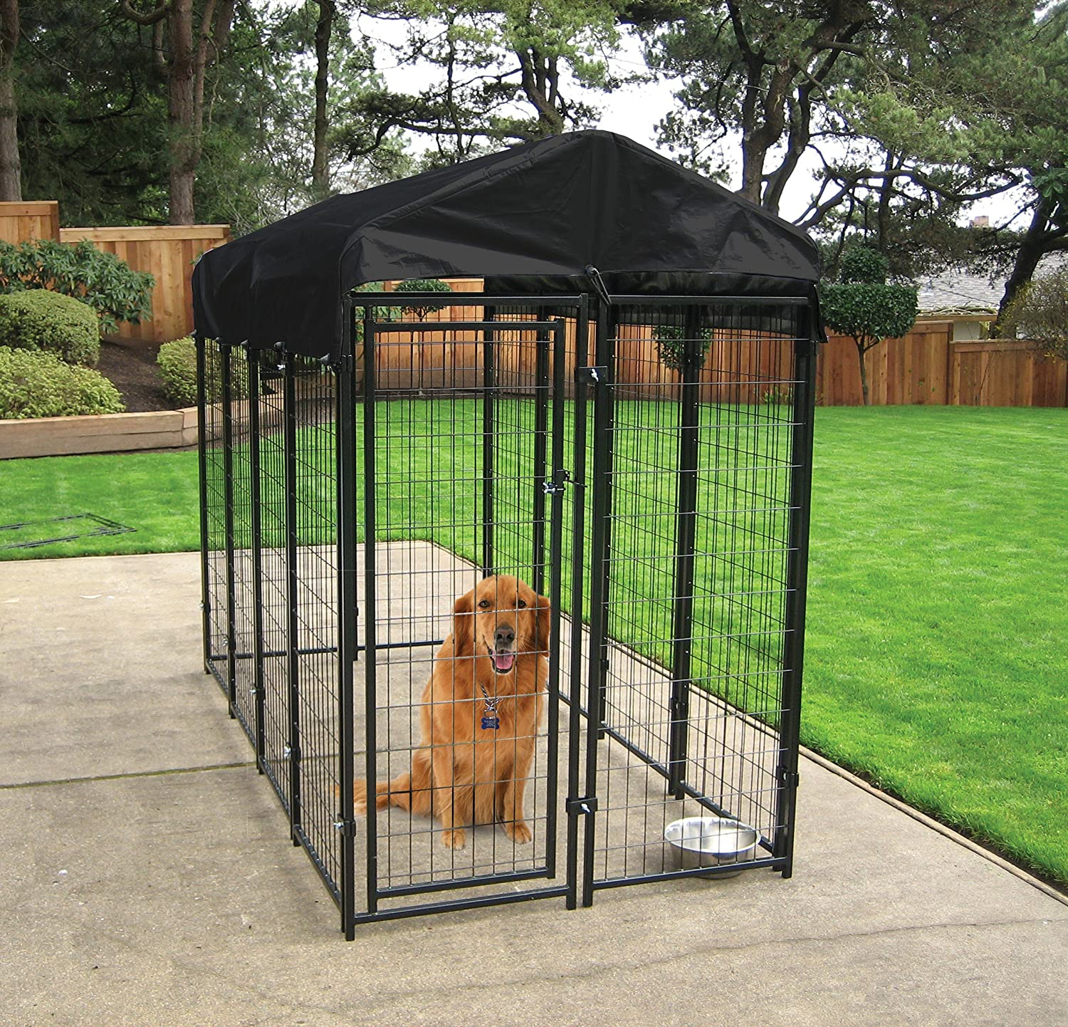 Make sure this fits by entering your model number. ALEKO's kennel is designed to keep your pet safe and secure without feeling confined Sturdy heavy duty construction is strong and reliable enough to use as a dog kennel, playpen, exercise pen, cat fence, chicken coop, hen house, and more.