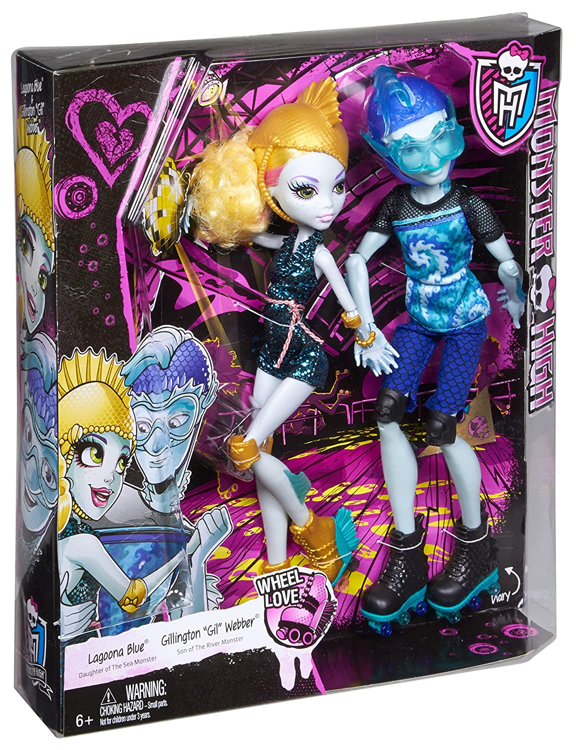 amazon com monster high lagoona blue and gil weber wheel love