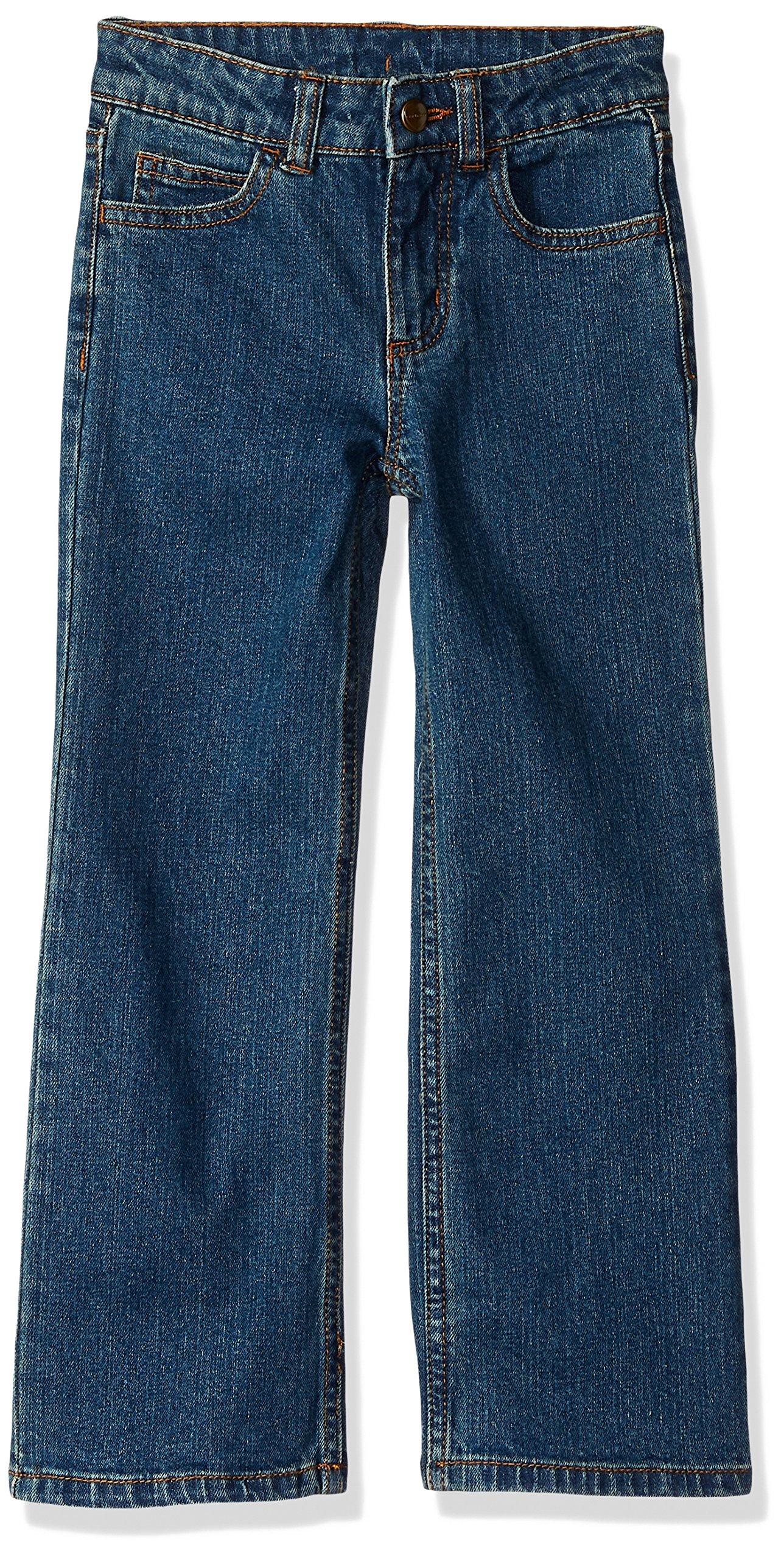 Carhartt Big Girls' Denim 5 Pocket Jean, Medium Wash, 12