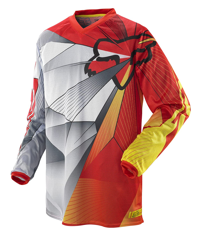 Amazon.com  Fox Racing HC Radeon Airline Men s MotoX Off-Road Dirt Bike  Motorcycle Jersey - Red Yellow   2X-Large  Automotive 0624b087c