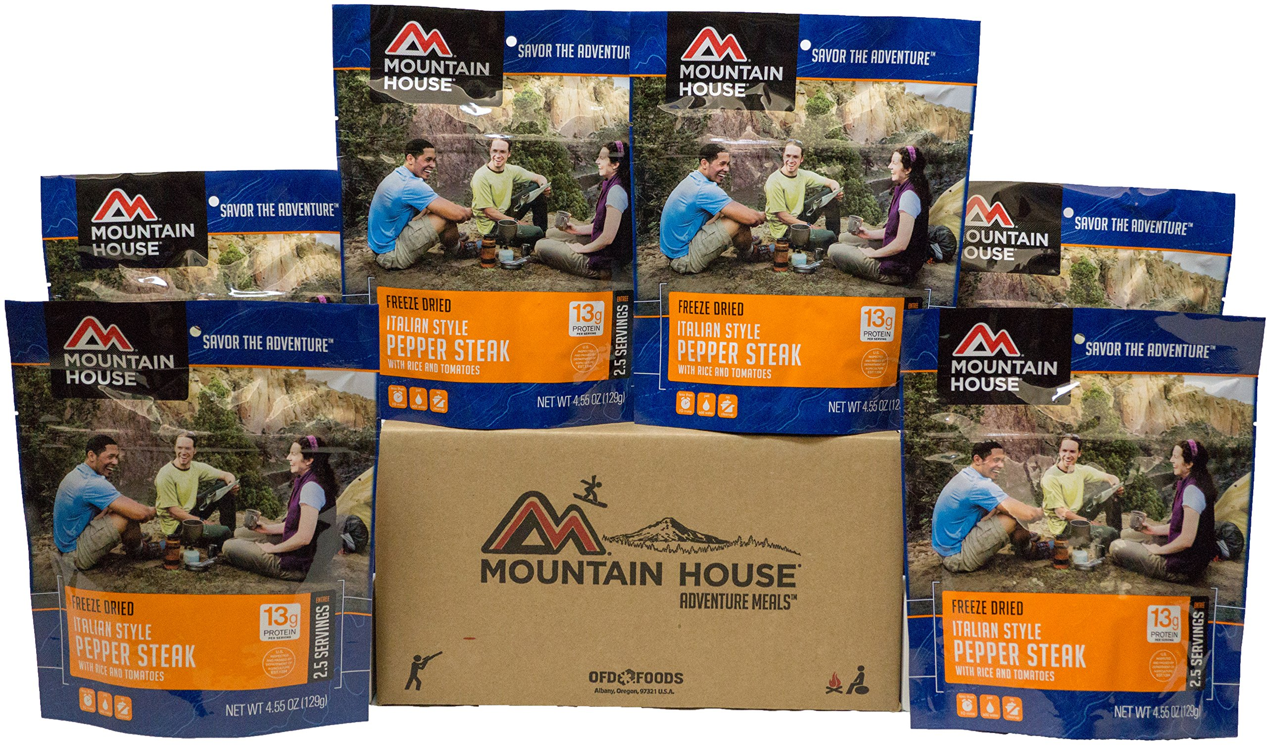 Mountain House Italian Style Pepper Steak with Rice 6-Pack by Mountain House