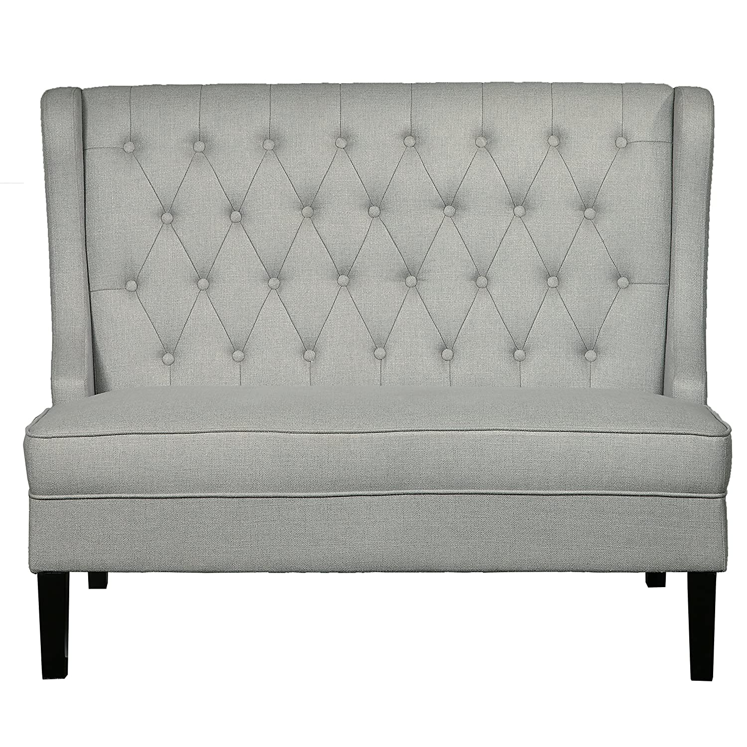 Amazon Pulaski Accentrics Home Wing Back Upholstered Settee in