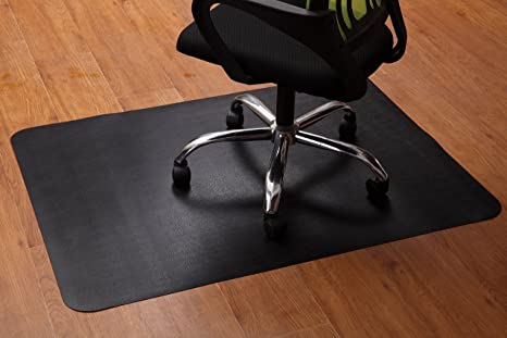 Office Chair Mat For Hardwood And Tile Floor, Black, Anti Slip, Under