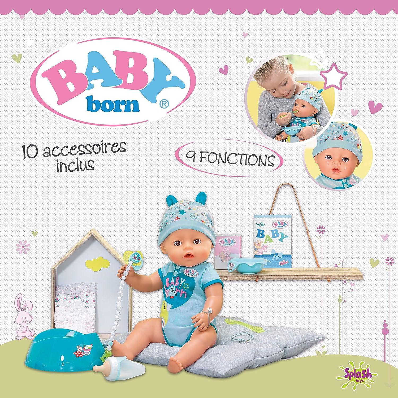 BABY Born 30880 Puppe, interaktive, 9 Funktionen und 11