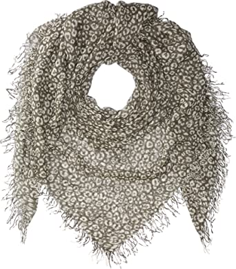 b6882e3d31e3 Chan Luu Women's Two-Tone Leopard Print Silk and Cashmere Scarf Beetle/Seed  Pearl One Size at Amazon Women's Clothing store: