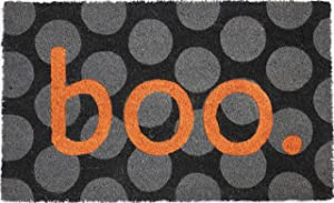 "Entryways Boo Non- Slip Coconut Fiber Doormat 17"" X 28"" X .5 """