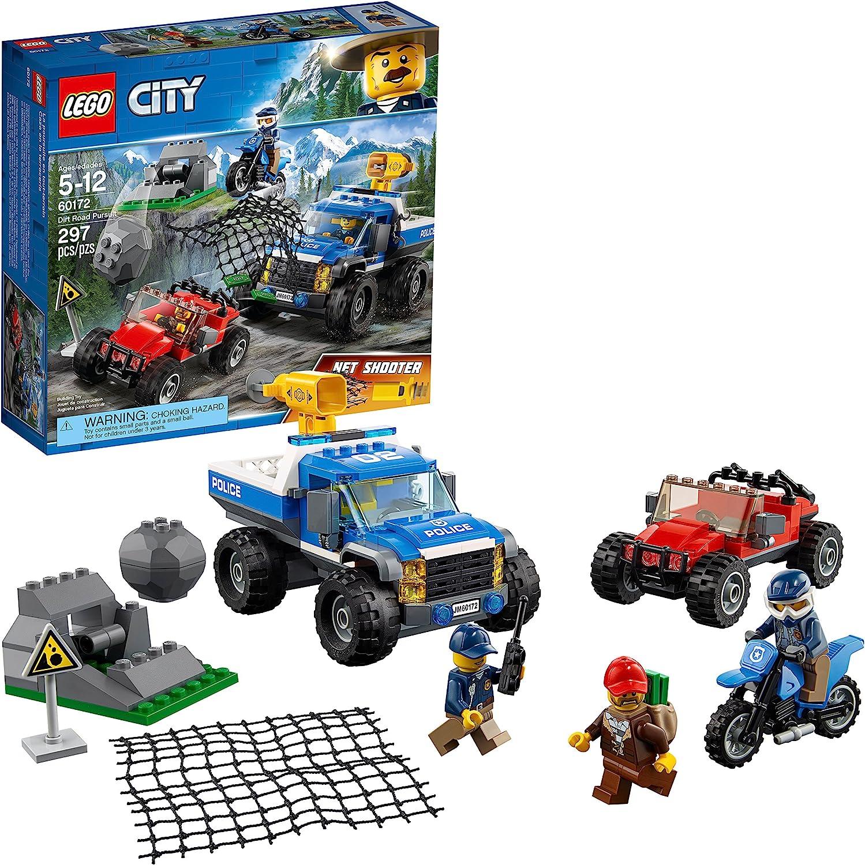 LEGO City Dirt Road Pursuit 60172 Building Kit (297 Pieces)