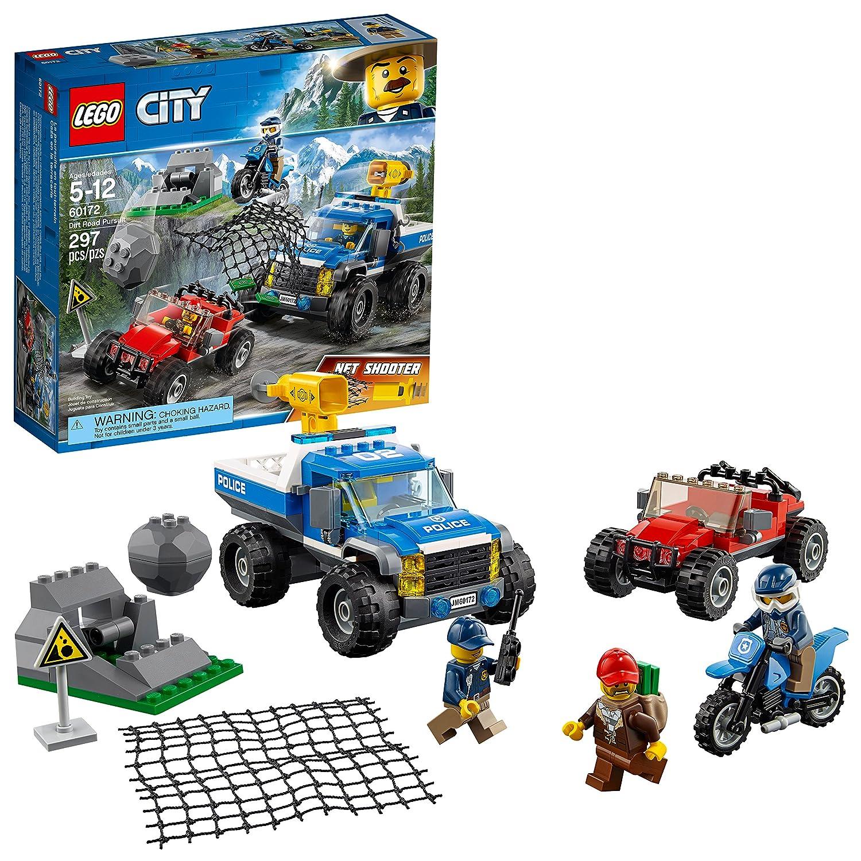 LEGO City Police 6209768 Dirt Road Pursuit 60172 Building Kit (297 Piece)