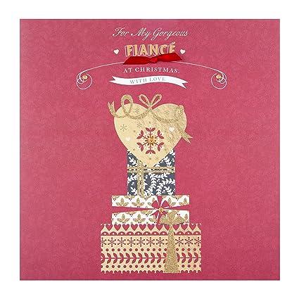Hallmark Grande Fianceavec Amour Carte De Noël Amazonfr