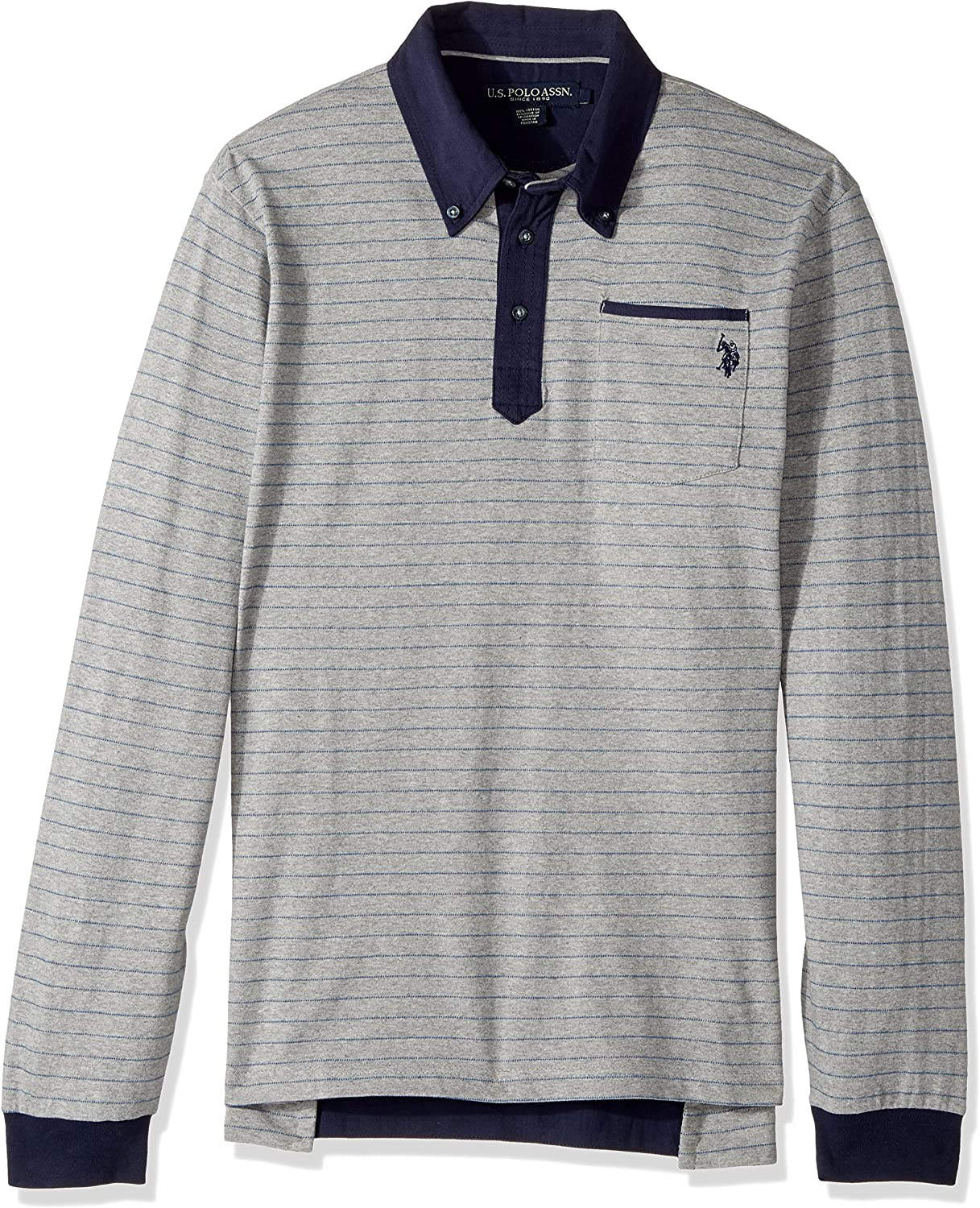 Polo Assn U.S Mens Long Sleeve Classic Fit Striped Shirt