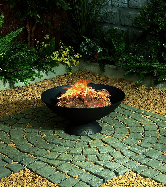 Premier Decorations BH111118 56 x 23 cm Cast Iron Fire Bowl