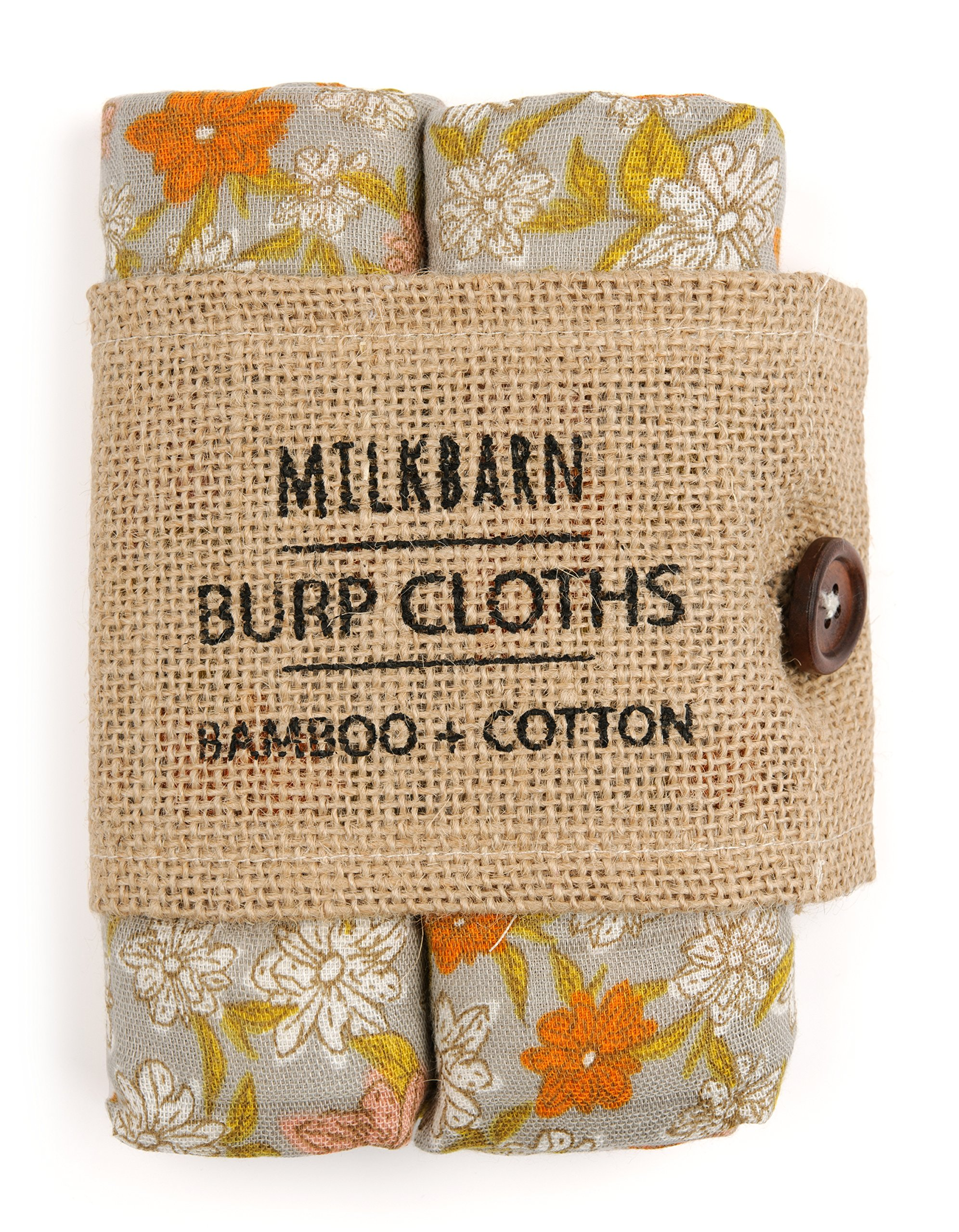 Milkbarn Bamboo Cotton burp Cloths (pack of 2)