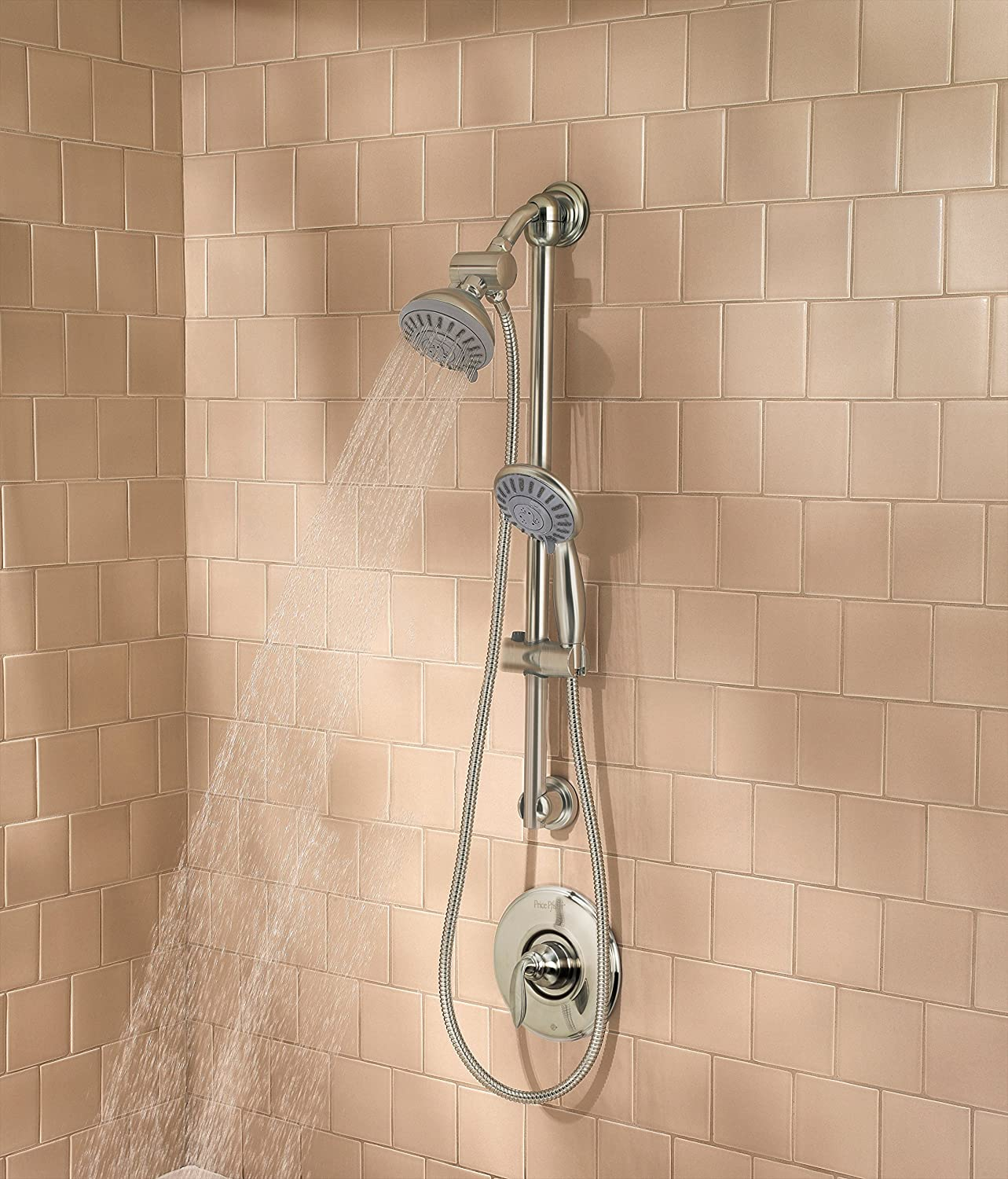 Pfister 3-Function Handheld Shower, Brushed Nickel - Shower Arms And ...