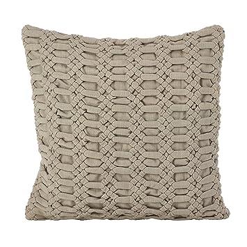 Amazon.com: Saro Lifestyle Smocked algodón Throw almohada ...