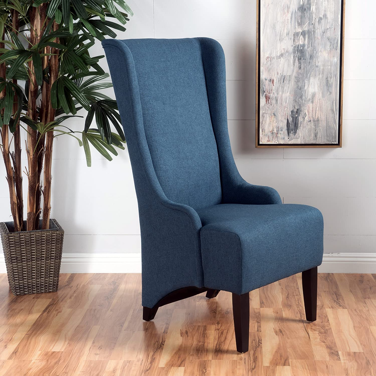 Christopher Knight Home Callie Fabric Dining Chair, Dark Blue