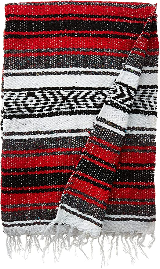 "mexican blanket authentic mexican blanket baja blanket seat cover  84/""x 60/"""