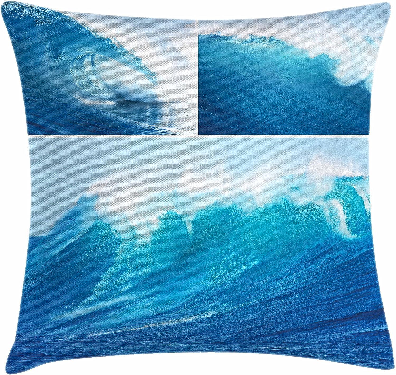 Surf manta almohada Funda de cojín por Ambesonne gigante, Collage ...