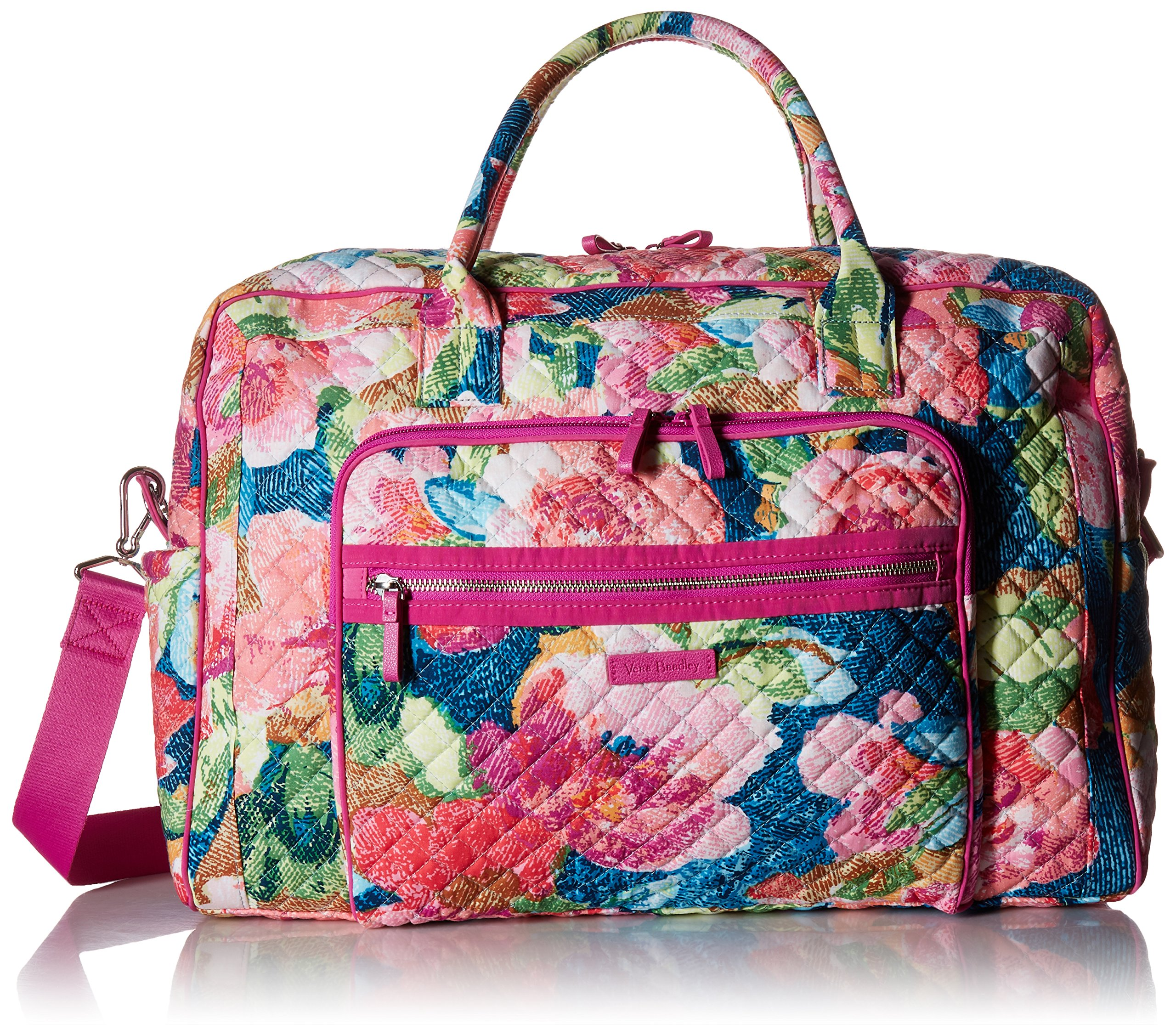 Vera Bradley Iconic Weekender Travel Bag, Signature Cotton, Superbloom
