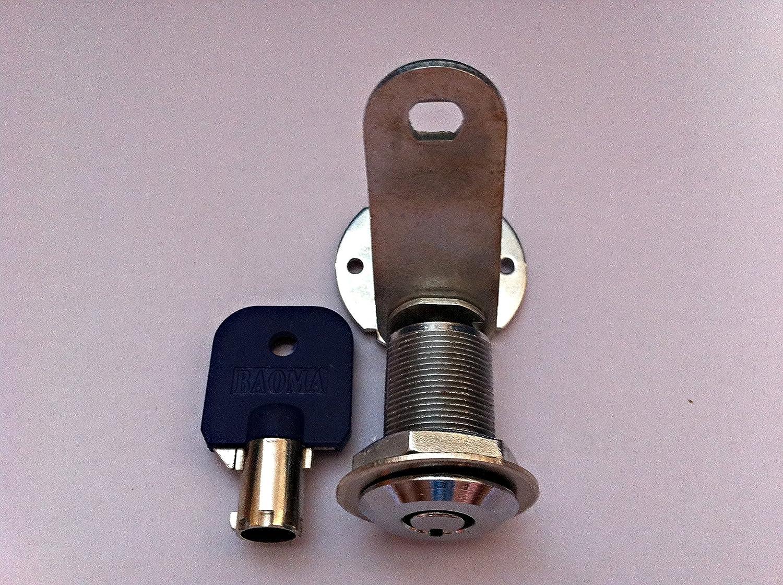 3//4 Copper Bore Diameter:19mm 2X Office Desk Lock Zinc Alloy Drawer Lock Cabinet Lock Anti-Theft