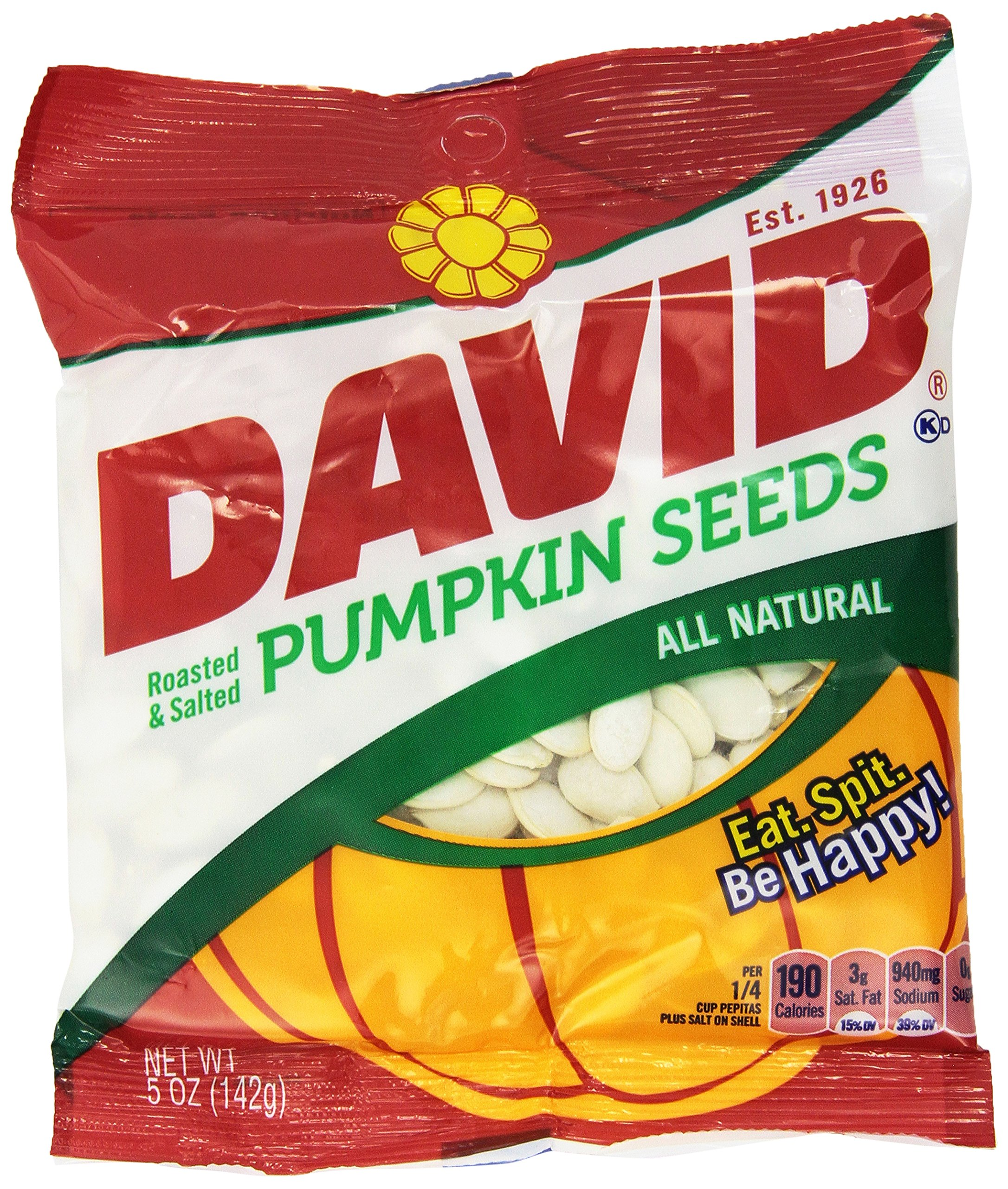 David Seeds, Pumpkin Seeds, 5-Ounce Bags (Pack of 4)