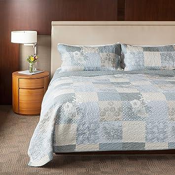 Amazon.com: SLPR Cottage Floral 3-Piece 100% Cotton Lightweight ... : 100 cotton quilts king - Adamdwight.com