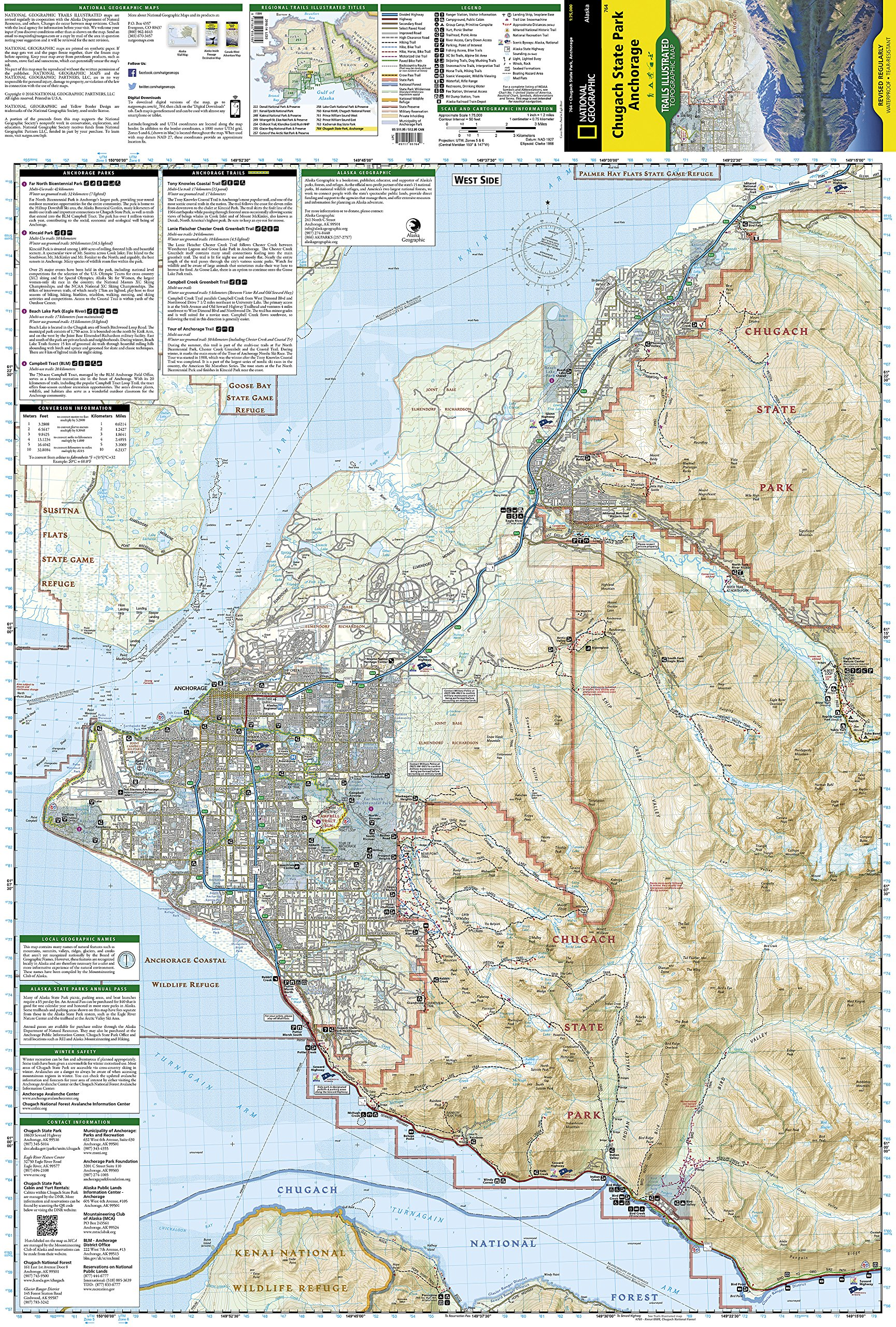 Chugach State Park Anchorage National Geographic Trails