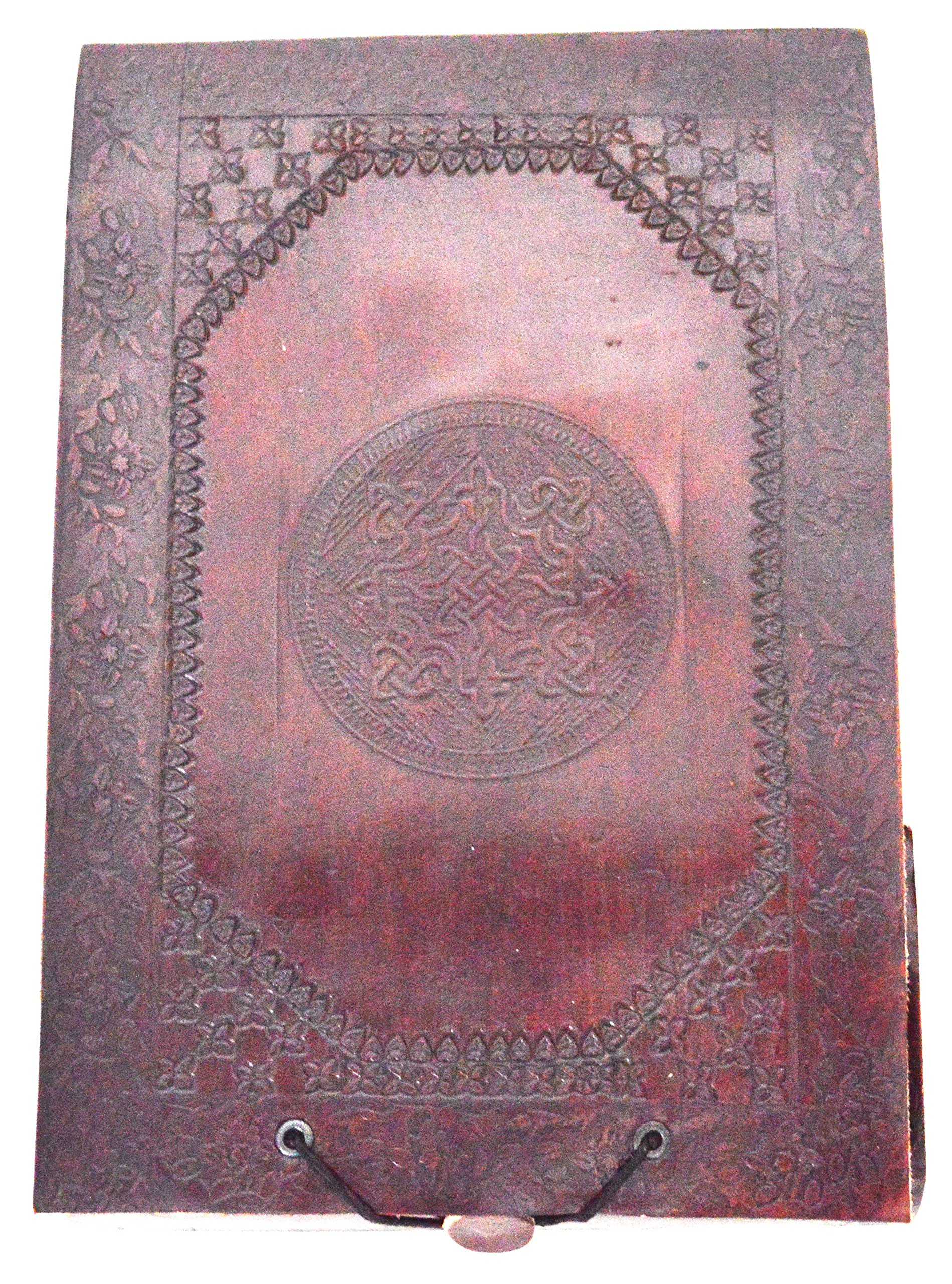 Zap Impex Mother's Day Gift Handmade Celtic Leather Cover Embossed Journals Pockets Photo Collection Album