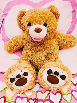 Original Honey Bear® – XL oso 80 cm marrón OSO DE PELUCHE Peluche Oso de
