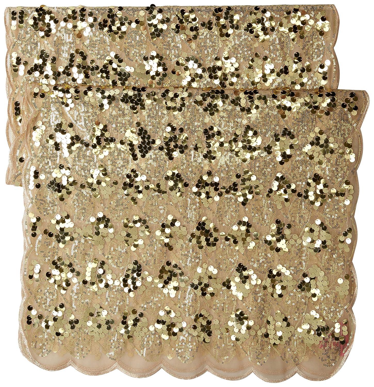 Betsey Johnson Womens Paillette Sequin Tulle Wrap