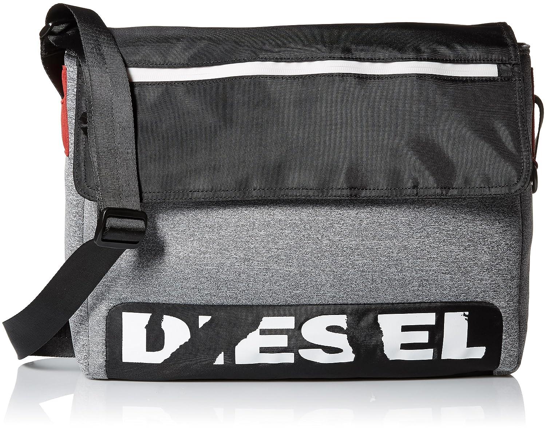 (ディーゼル) DIESEL SCUBA-B F-SCUBA MESSENGER - cross bodybag X04810P1529 B0752796VX グレー UNI (Free)