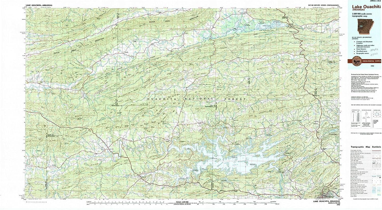 Ozark Mountains Topographic Map.Amazon Com Yellowmaps Lake Ouachita Ar Topo Map 1 100000 Scale