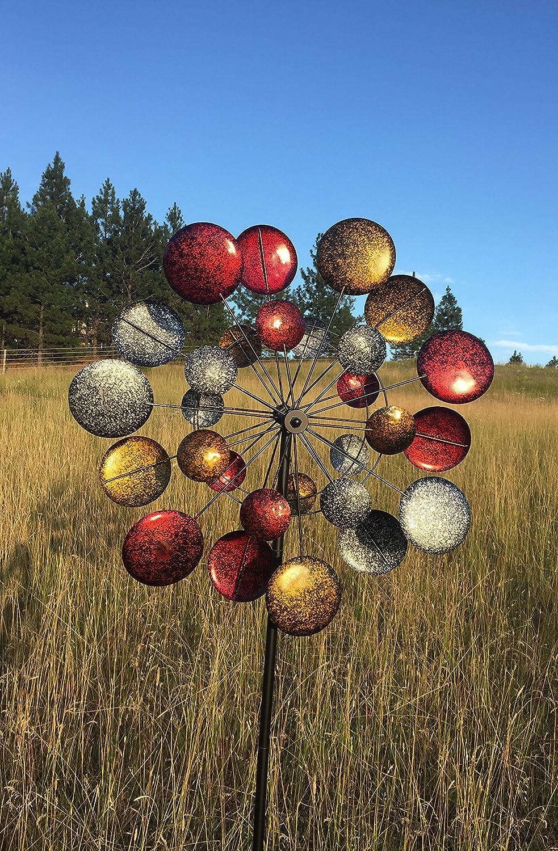 Amazon.com : Jumbo Modern Art Kinetic Quadruple Wind Sculpture ...