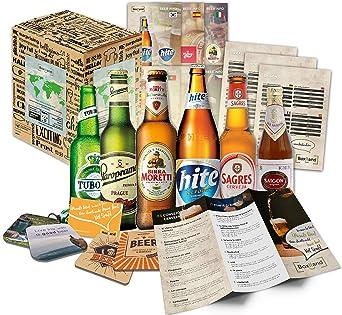 Biere del Mundo regalo + + Información de cerveza + + Catas de instrucciones + + cerveza Tapa. Hombres de cumpleaños/Navidad/día del padre. El regalo inusual y especiales: Amazon.es: Alimentación y bebidas