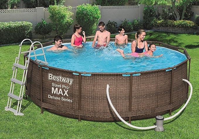 Bestway 56709 Steel Promax Deluxe Series Pool ø366 X 100 CM, Marco ...