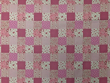 Ideal Crafts Beautiful Pink Collection of 100/% Cotton Fabrics Dresses Bunting