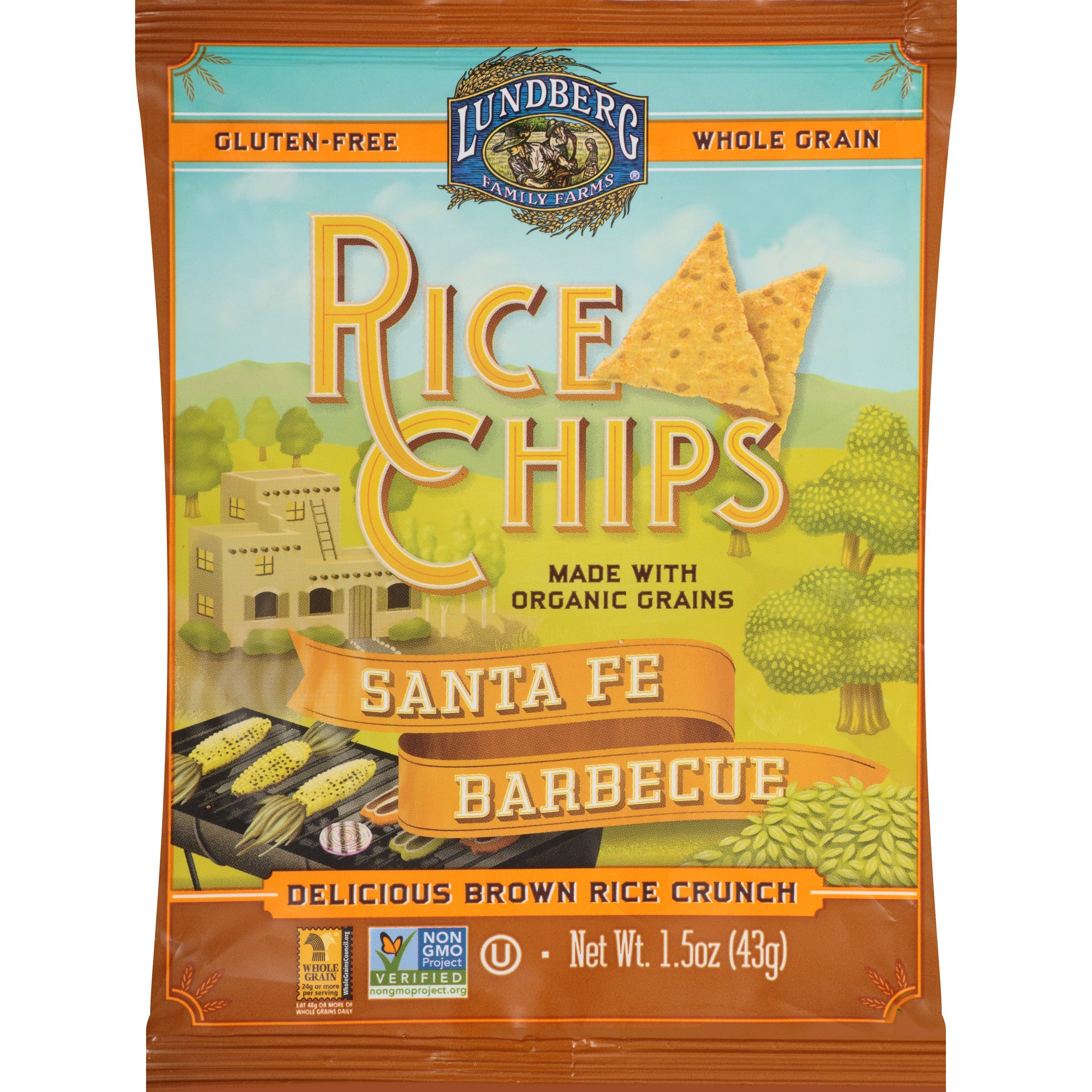 Lundberg Family Farms Rice Chips, Santa Fe Barbeque, 1.5 Ounce (Pack of 24)