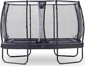 Trampoline Sicherheitsnetz Deluxe schwarz Trampolin EXIT Elegant 244x427cm