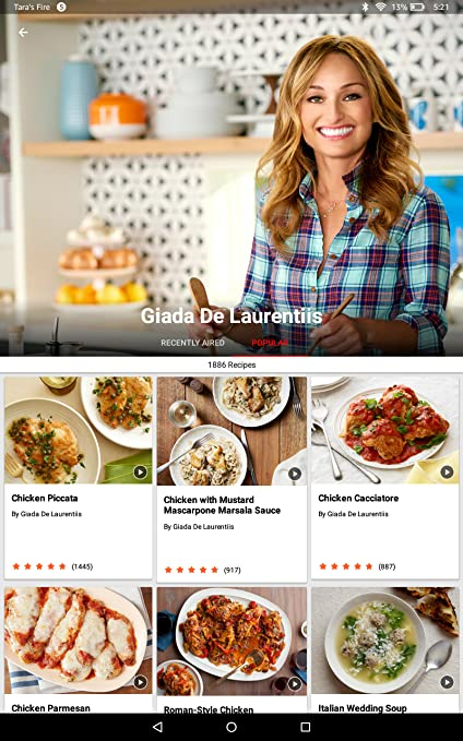 Amazon Food Network In The Kitchen Appstore For Android