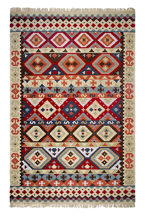 Amazon com: Fab Habitat Handwoven Indoor/Outdoor Rug, Kilim