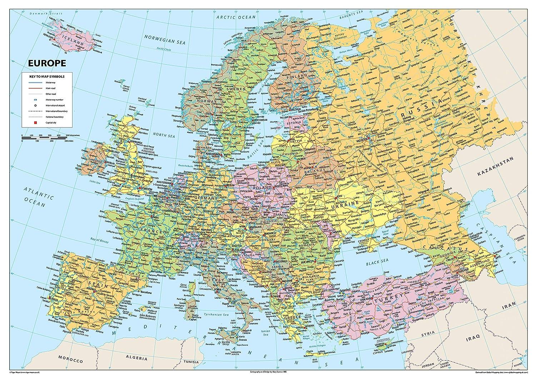 Karte von Australien Papier in englischer Sprache laminiert a1 farblos